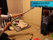 The Que Audio iQ-rig with Q Mini Boom Pole vs DSLR internal Microphone