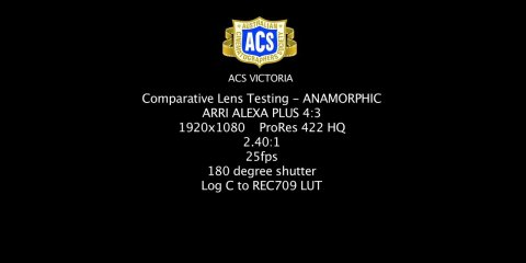 Anamorphic Lenses Comparison from ACS Victoria