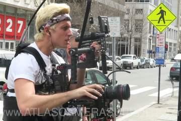 BTS Sawyer Hartman's Jeep Campaign Using a Atlas Camera Support 1-Rod Heavyweight