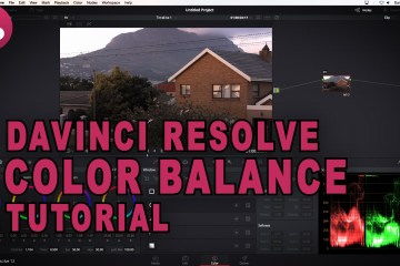 Colour Balance, Colour Correction DaVinci Resolve Tutorial from TunnelvizionTV