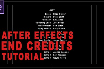 How To Do End Credits Using Adobe After Effects