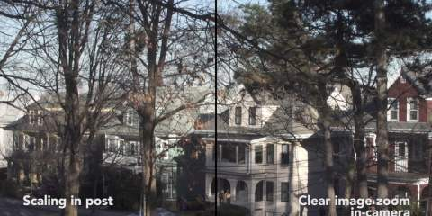 Sony FS5 Clear Image Zoom Vs Post Zoom Test Side by Side from Ben Pender-Cudlip