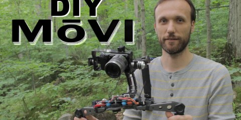 What The What The a Brushless Gimbal Camera Rig Attached to the Shoulder: