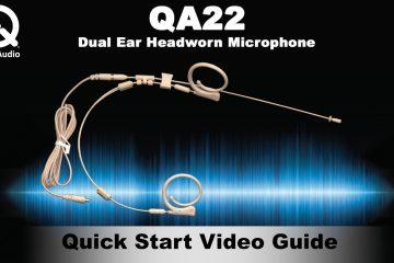 How To Wear a Que Audio QA22 Dual Ear Headworn Microphone