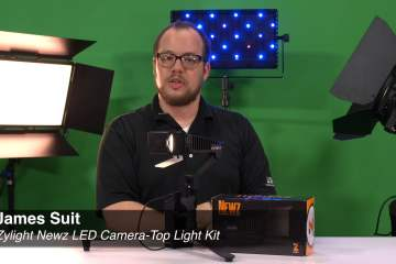 A look at the Zylight Newz LED Camera-Top Light Kit from Markertek