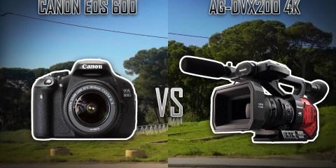 Panasonic AG-DVX200 4K Vs Canon EOS 600D