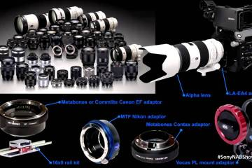 All The Sony Cameras From the α7s to the F65 in One Presentation