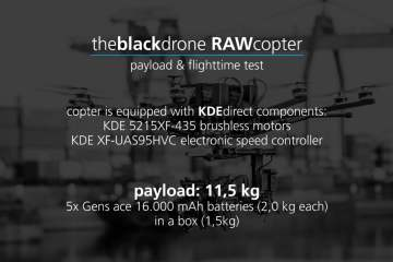 theblackdrone RAWcopter Drone Flight Time & Payload Test