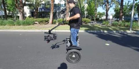 "CineMilled PRO Ring ""JIB Mode"" BTS Handsfree on a Segway"