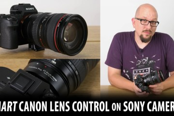 Smart Canon Lens Control on Sony Cameras / FUSION EF to E-mount Lens Adapter