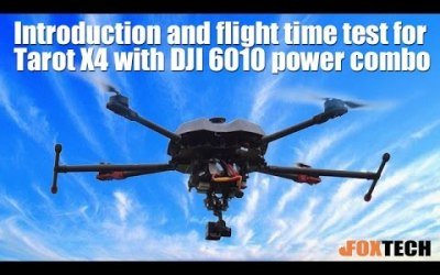 Tarot X4 Quadcopter with DJI 6010 Power Combo Introduction and Flight Time Test