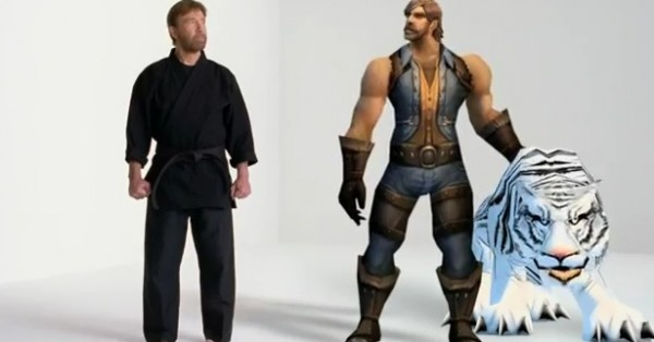 Chuck Norris dans la pub World of Warcraft