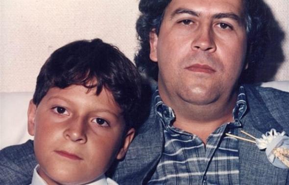 Pablo Escobar y su hijo