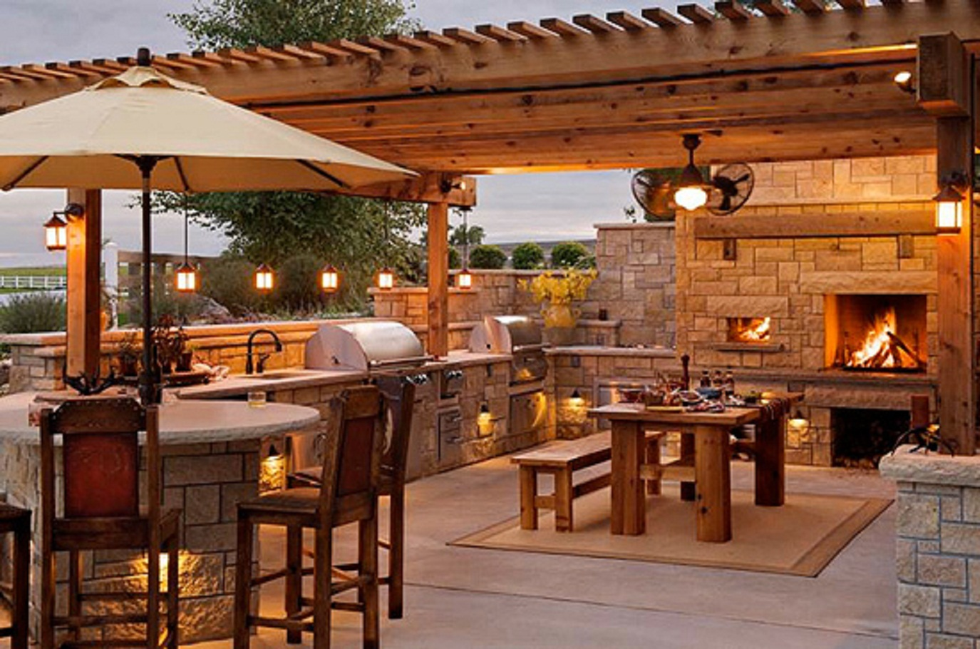 how to design your perfect outdoor kitchen outdoor kitchen design guidelines ideas outdoor kitchen lighting Outdoor Kitchen With Pergola