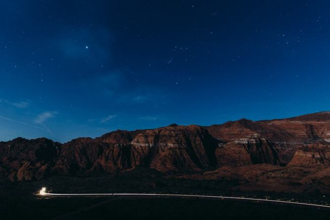 Snow Canyon Light Trail
