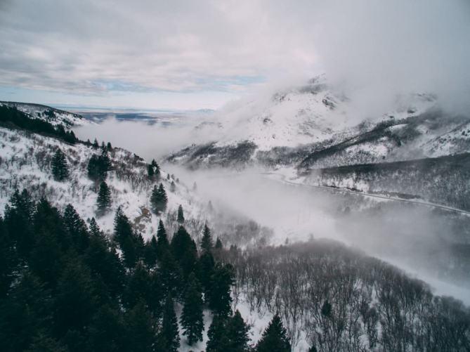 Snow North Ogden Divide