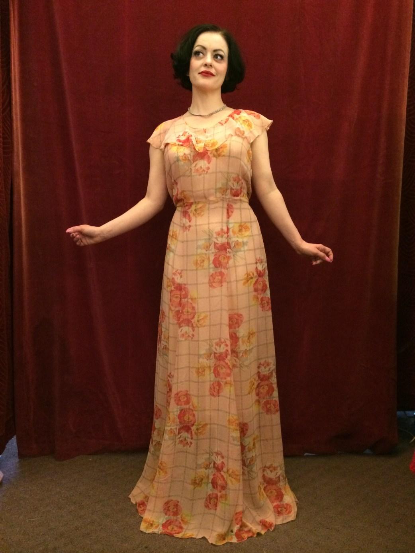 Circa Vintage 1930s silk tea gown