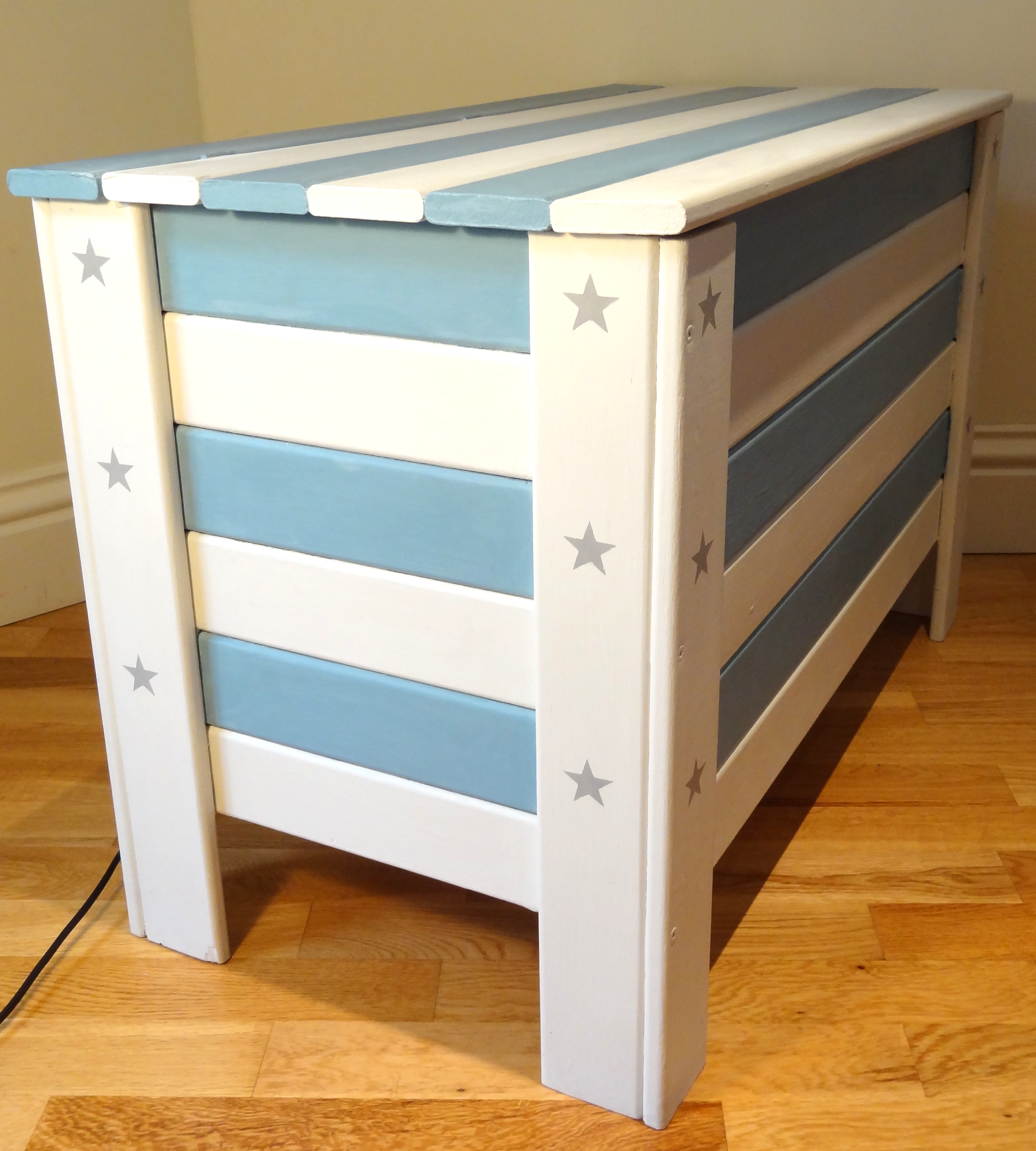 Luxurious Sale Wooden Toy Box Bench Seat This Solid Panelled Wood Skandi Stars Stripes Toy Box S Circle Interiors Wooden Toy Boxes houzz 01 Wooden Toy Box