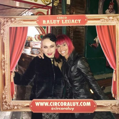 La bailarina Chiqui Marti en el Circo Raluy