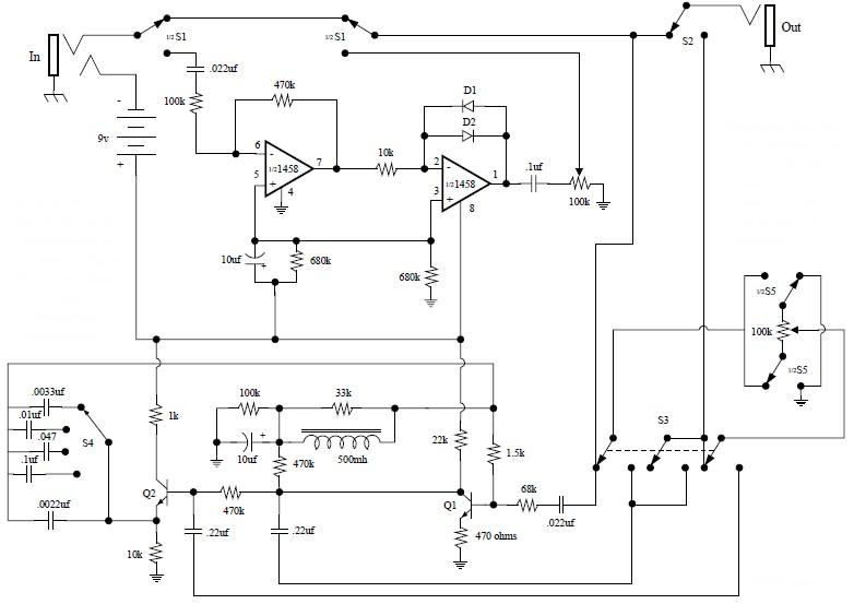 EH Fuzz Wah Circuit Design