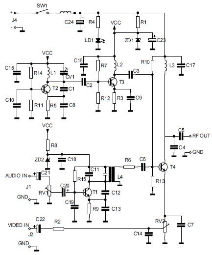 Audio  Video To Uhf Tv Signal Converter  Modulator