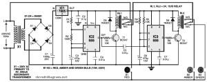 simple trafic light controller circuit