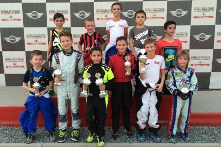 Junior sprint drivers collect their silverware