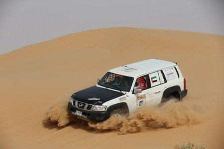 Mansour Al Helei captured the T2 production class cars title by finishing 13th in his Nissan Patrol