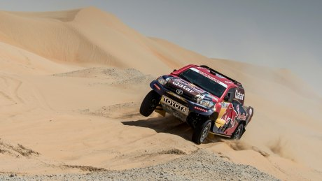 Nasser Saleh AlAttiyah has a comfortable lead in the car section