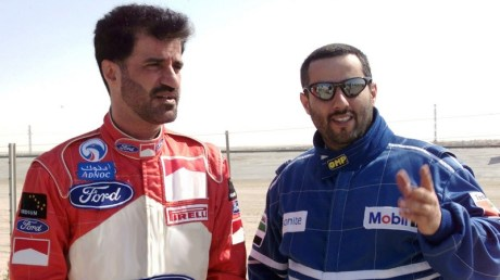 Sulayem with Sheikh Abdullah Al Qassimi during the 2000 UAE International Rally