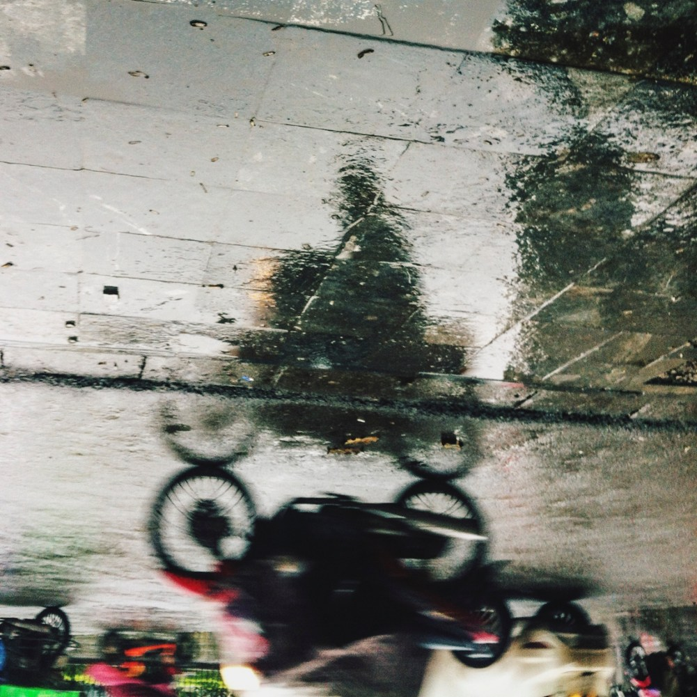 motorbike reflection in Hanoi Kira Mueller