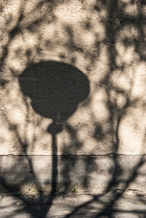 lamp shadow East German Eisenhuettenstadt Germany