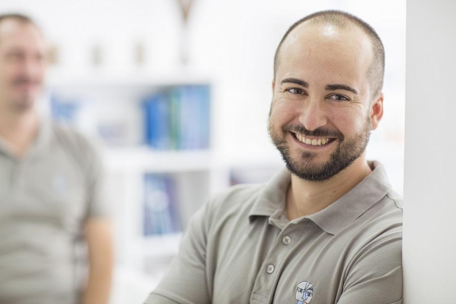 Sergio Herrero, tecnico de laboratorio especialista en metal y CAD CAM