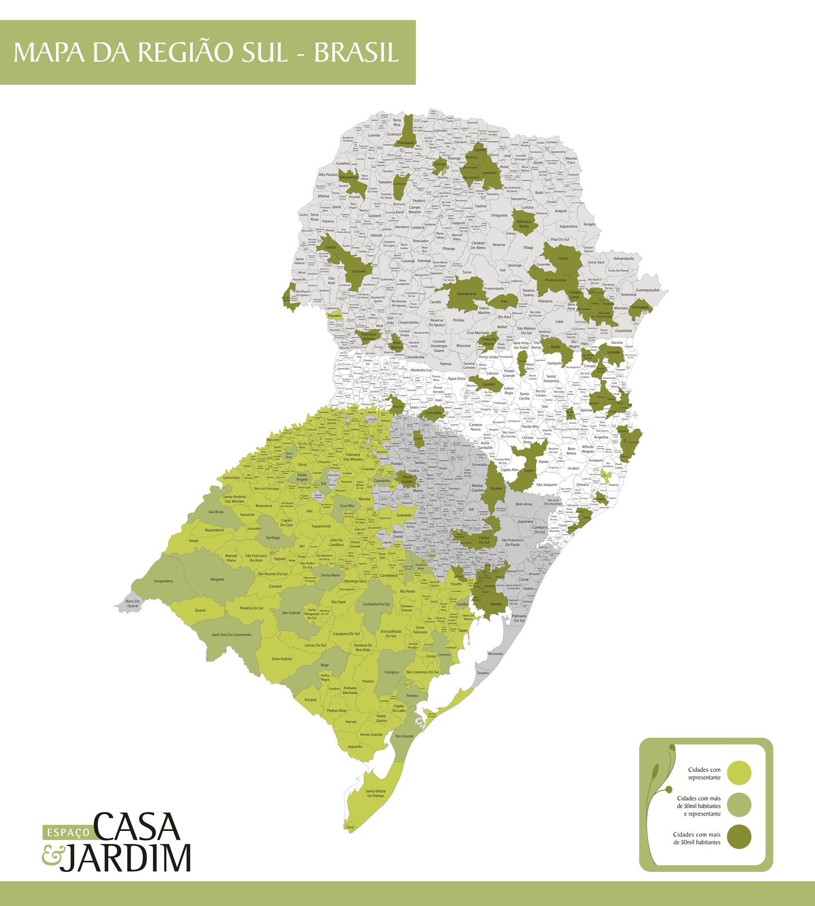 Aparador Madeira Demolição ~ Mapa Regi u00e3o Sul com Limites de Municípios Citimaps