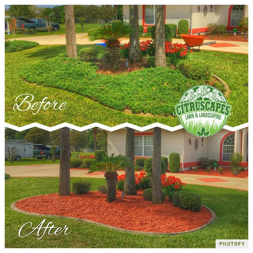 citrus county mulch installed