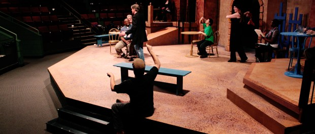 Students have been rehearsing for the fall play since September. (Photo: Katie Scott/City College News)