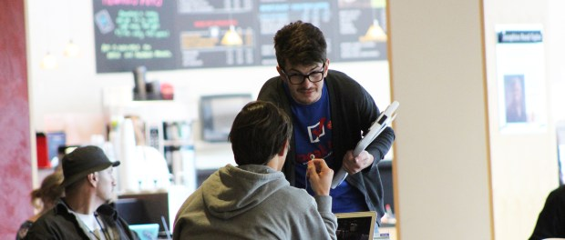 Krantz was an active student during the voter registration campaign. (James Healy/City College News)