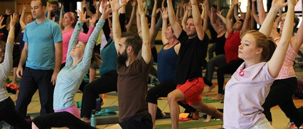 The Gorilla Yogis were able to raise $600 during their day at MCTC. (Photos: Trevor Squire/City College News)