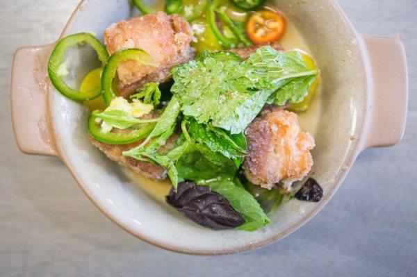 Pork Belly Plum Salad