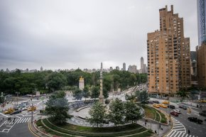View of Columbus Circle and Central Park from Our Table
