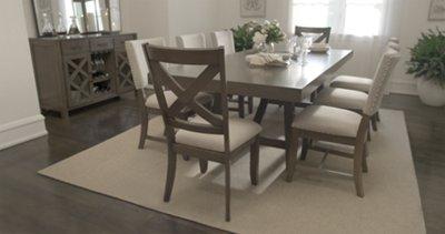 fs omaha gray rectangular table kitchen table omaha Omaha Gray Rectangular Table VIEW LARGER