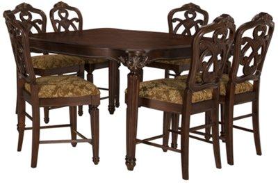 kf regal dark tone high dining table high kitchen table Regal Dark Tone High Dining Table VIEW LARGER