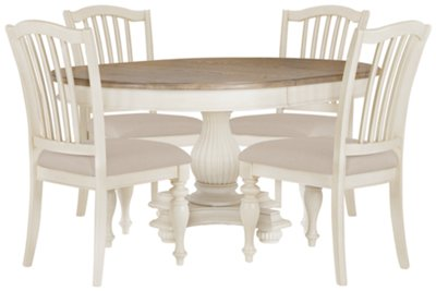 rr coventry two tone rect table 4 uph chrs two tone kitchen table Coventry Two Tone Round Table 4 Wood Chairs