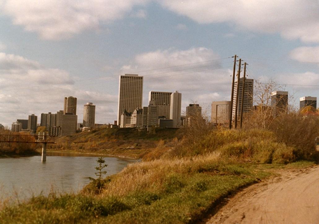 Cloverdale Footbrdige Construction, 1978. City of Edmonton Archives, EA-263-86