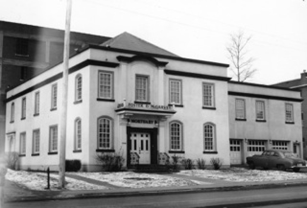 Foster & McGarvey Funeral Home circa 1955. Image courtesy of the City of Edmonton Archives EA-275-66-1.