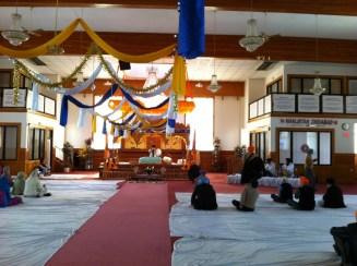 Guru Gansaab at the Siri Guru Nanak Sikh Gurdwara. Photo by Umar Akbar.