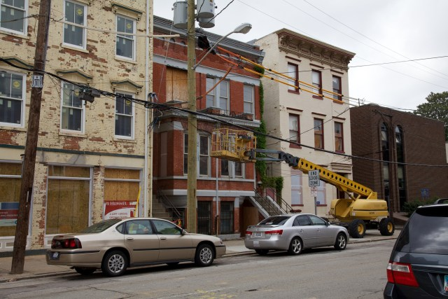 A building under renovation in Cincinnati's Over the Rhine neighborhood. Credit: David Brossard, Flickr