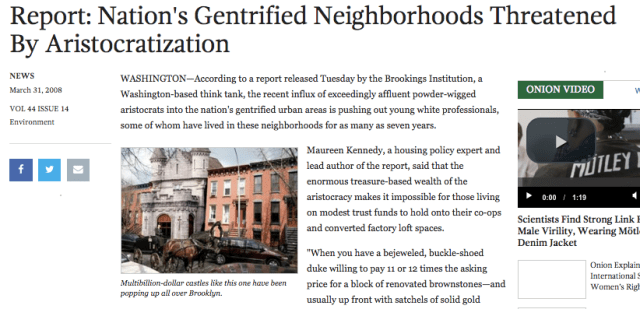 The Onion is on it.