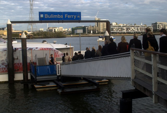 Or paddle till you qualify. A commuter ferry in Australia. Credit: Rae Allen, Flickr