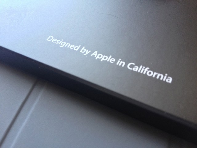 Designed by Apple in California (Flickr: ECastro)